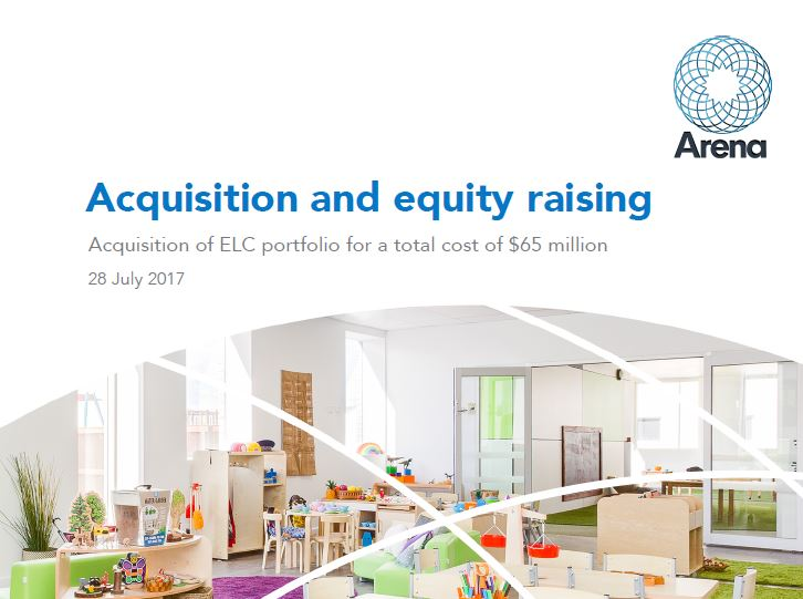 Arena REIT Portfolio acquisition and equity raising