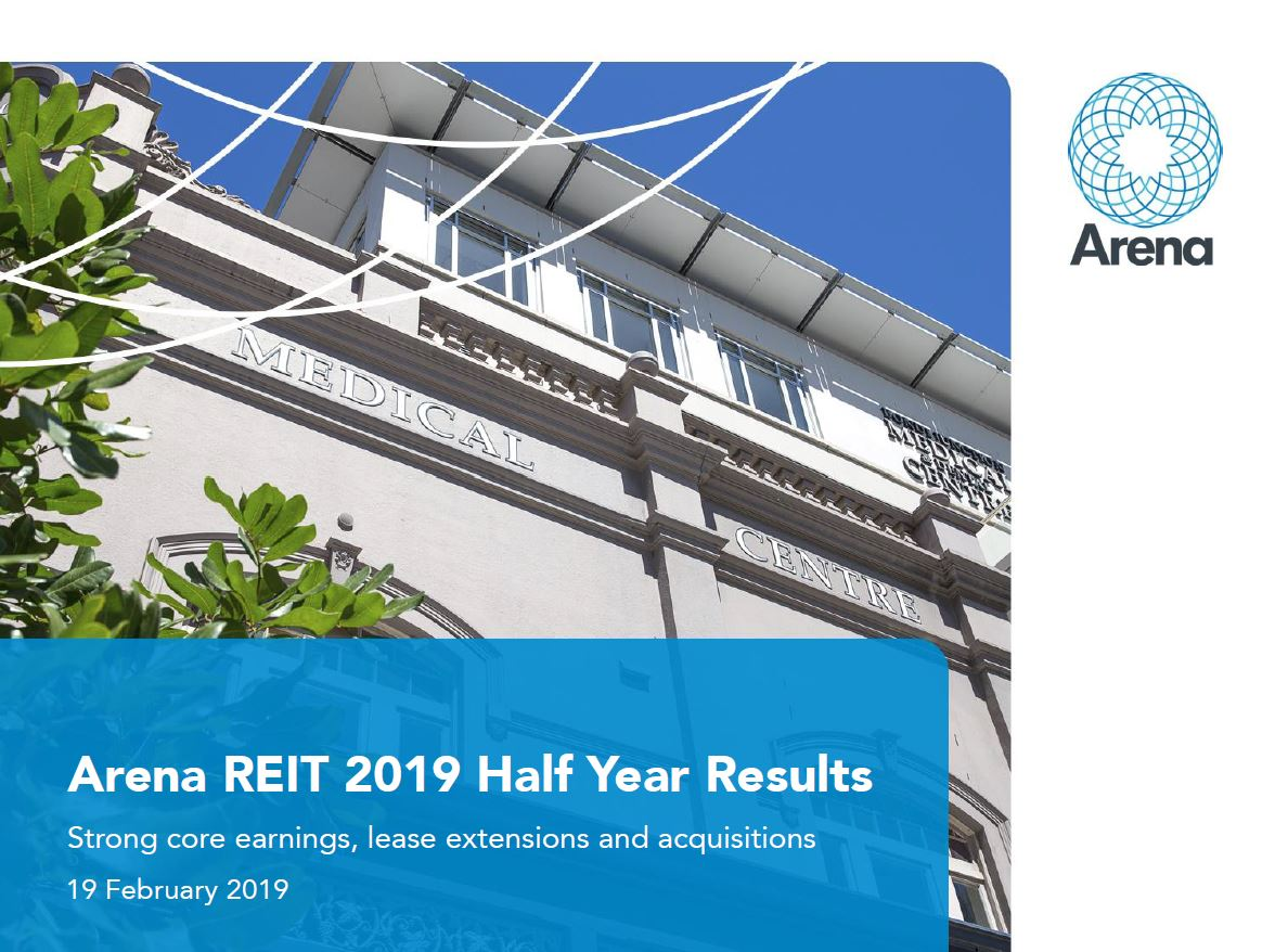 Arena REIT HY19 Results Presentation