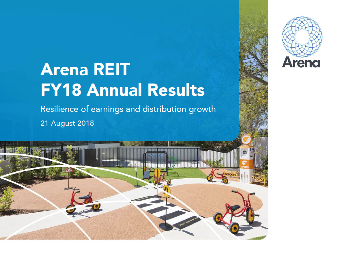 Arena REIT FY18 Annual Results Presentation