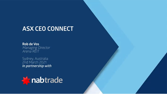 ASX CEO Connect - March 2021 - Arena REIT
